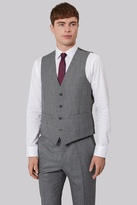 French Connection Slim Fit Light Grey Texture Waistcoat