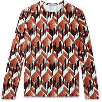Acne Studios Essex Slim-Fit Flocked Glittered Stretch-Jersey Sweater
