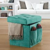 AnthologyTM Sit & Store Folding Ottoman in Tufted Aqua