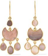 Pippa Small 18-karat Gold Shell Earrings