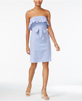 MICHAEL Michael Kors Strapless Ruffle-Trim Dress