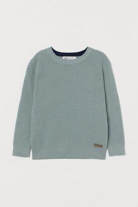 H&M Waffle-knit Sweater