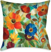 Laural Home® Summer Floral Square Throw Pillow in Teal