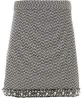 River Island Girls black boucle pearl hem skirt
