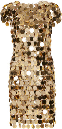 Paco Rabanne Chain Mail Sequined Mini Dress