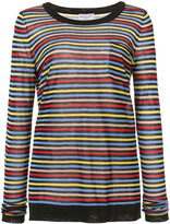 Sonia Rykiel striped pocket T-shirt - women - Silk/Cotton - M