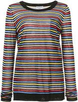 Sonia Rykiel striped pocket T-shirt