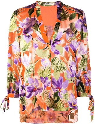 Alice + Olivia Sheila floral print blouse