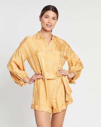 Shona Joy Daisy Balloon Sleeve Boiler Suit