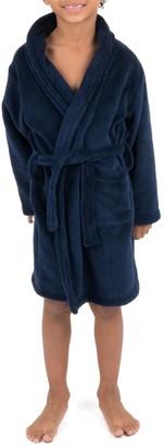 Leveret Navy Shawl Collar Fleece Robe (Toddler, Little Boys, & Big Boys)