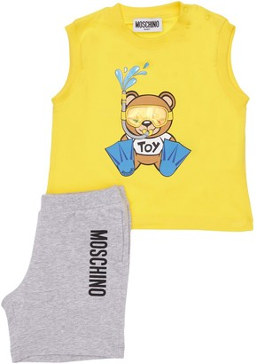 Moschino Cotton Jersey Tank Top & Shorts