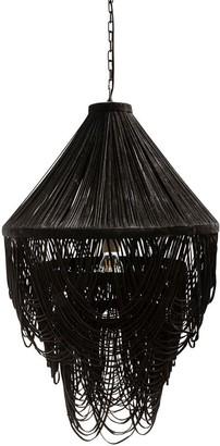 Horgans Yumi Black Suede Leather Chandelier