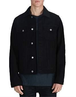 Ksubi Classic Jacket Laid Black