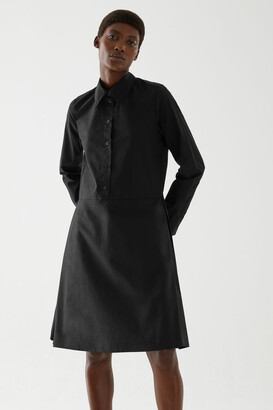 Cos Pleated Cotton Shirt Dress
