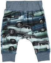 Molo Sammy Stacked Cars Jersey Pants, Blue, Size 12-24 Months