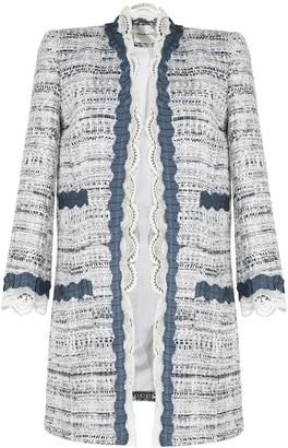 ZUHAIR MURAD Lace-Trimmed Tweed Coat