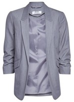 Dorothy Perkins Womens Dp Petite Grey Ruched Sleeve Jacket, Grey