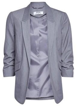 Dorothy Perkins Womens Dp Petite Grey Ruched Sleeve Jacket, Grey
