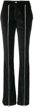 Philipp Plein Flared Zip Front Trousers