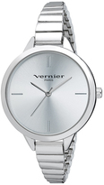 Vernier Silver Narrow Link Bracelet Watch