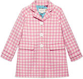 Gucci Children's wool blend check coat