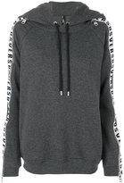 Versus panelled sleeve zip hoodie