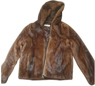 Gerard Darel Brown Mink Coat for Women