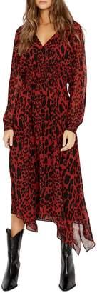 Buffalo David Bitton Taylor Animal-Print Smocked Dress