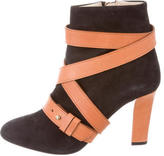 Jerome C. Rousseau Suede Round-Toe Booties