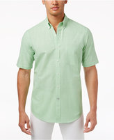 Club Room Men's Micro-Check Short-Sleeve Shirt with Pocket, Created for Macy's