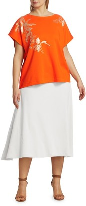 Joan Vass, Plus Size A-Line Midi Skirt