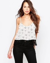 Goldie Dakota Top With Fringed Hem
