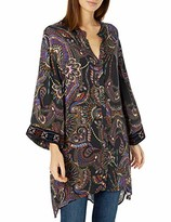 3J Workshop By Johnny Was by Johnny Was Women's Printed Rayon Kimono Tunic with Velvet Detail