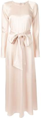 LAYEUR long-sleeve flared maxi dress