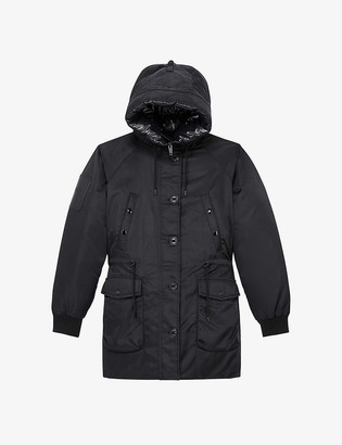 The Kooples Faux fur-trimmed shell hooded parka