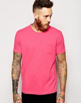 Ymc T-shirt With Pocket In Neon Pink - Pink