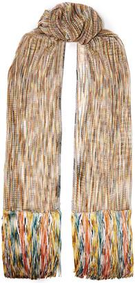 Missoni Fringe-trimmed Open-knit Scarf