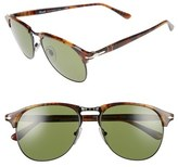 Persol Men's 56Mm Keyhole Sunglasses - Dark Havana