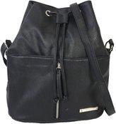 Nine West 'Angular Zippers' Drawstring Bucket Crossbody Bag