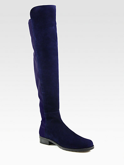 Stuart Weitzman 5050 Suede Over-The-Knee Boots