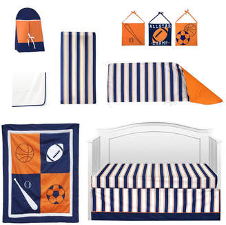 Pam Grace Creations Vintage Like Sports 6 Piece Crib Bedding Set Bedding