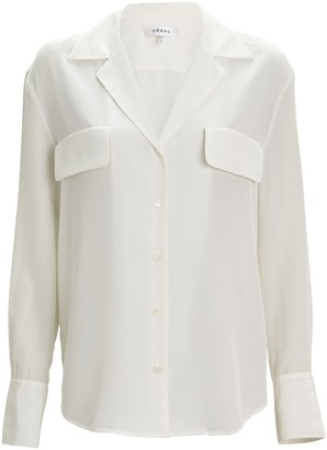 Frame Silk Button-Down Blouse