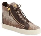 Giuseppe Zanotti Men's Embossed High Top Sneaker