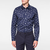 Paul Smith Men's Tailored-Fit Navy 'Paisley' Print Shirt