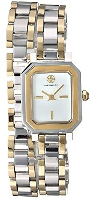 Tory Burch Robinson Mini Double Wrap Bracelet Watch (Two-Tone - TBW1507) Watches