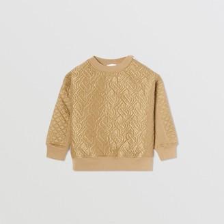 Burberry Childrens Monogram Quilted Panel Cotton Sweatshirt