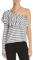 Splendid One Shoulder Stripe Top