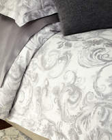 Sferra Full/Queen Gray Scroll Duvet Cover
