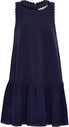Roksanda Cutout Rickrack-trimmed Seersucker And Cady Mini Dress
