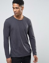 Sisley Long Sleeve T-Shirt In Slub